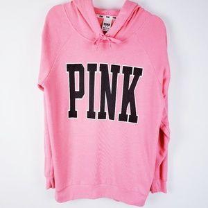 PINK - Oversized Pink Coral Hoodie Sweatshirt